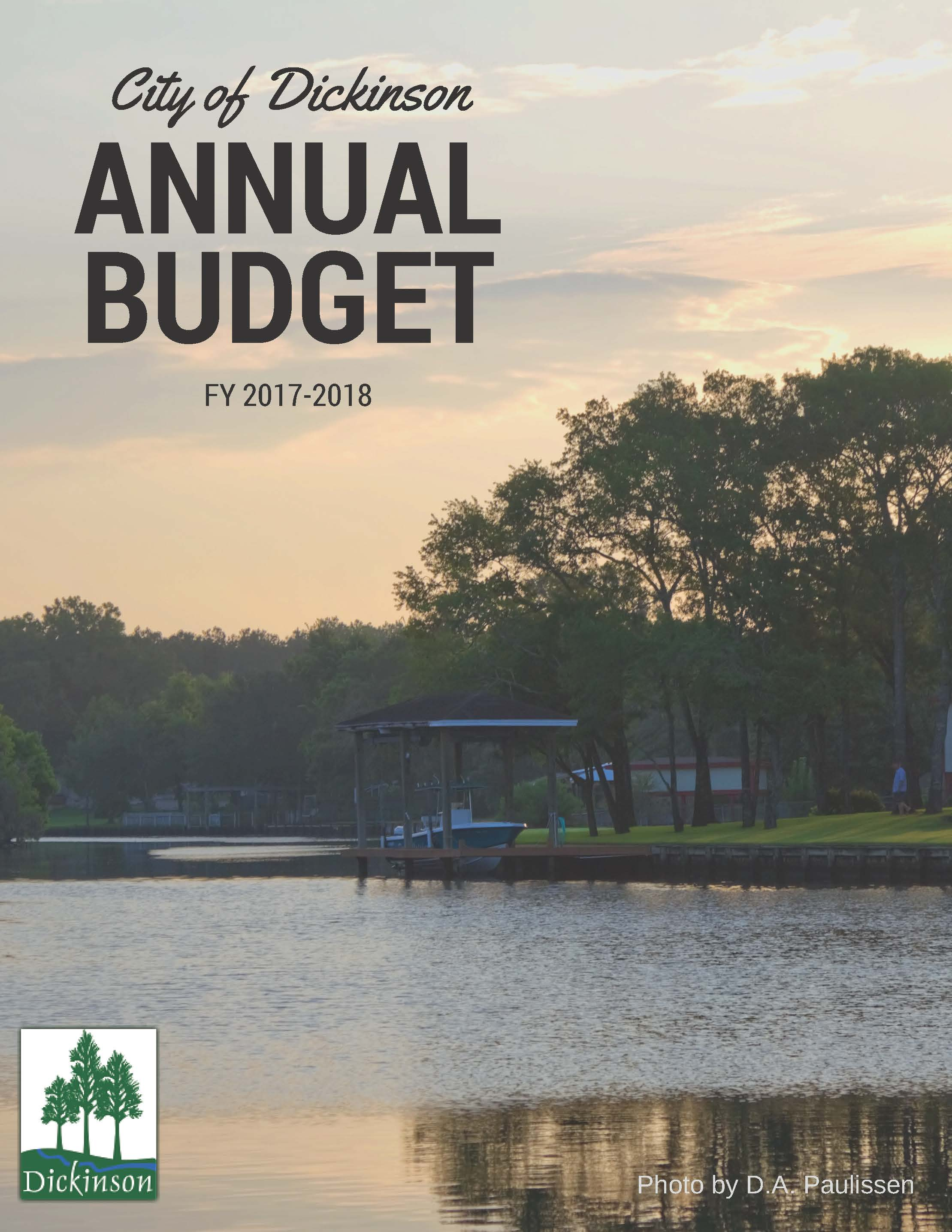 FY18 Budget Cover Page