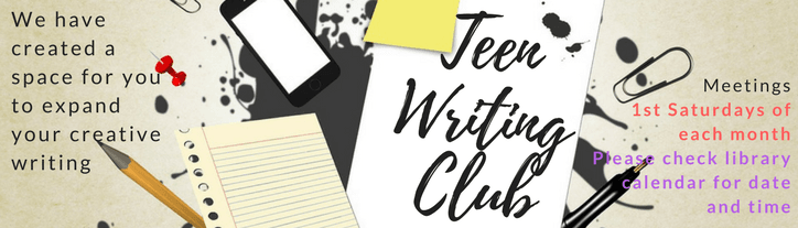 March Teen Writing banner